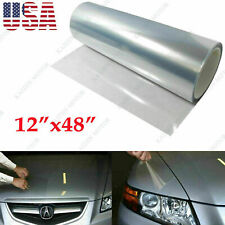 "12""x 48"" Clear Headlight Bumper Hood Protection Film Vinyl Sheet For Honda Acura"