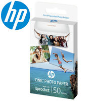 "HP Sprocket Zink Photo Paper Sticky Backed 50 Sheet Pack of 2""x 3"" 1RF42A"