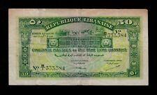 New listing Lebanon 50 Piastres 1942 Pick # 37 Vf.
