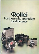 Rollei SLX & 35mm ~ Genuine Sales Brochure in Very Good Condition