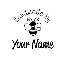 UNMOUNTED PERSONALIZED 'HANDMADE BY'  RUBBER STAMPS H91