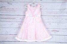 Thomas Girls  Dress Size  Pink-White Pok-a-Dots overlay Size 5 (B)