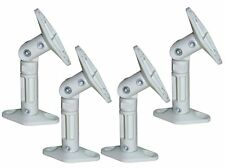 4 PC Set Pack Universal Wall Ceiling Satellite Speaker Mount Bracket White Bose