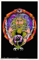 POSTER : FANTASY : WIZARD - BLACKLIGHT & FLOCKED  - FREE SHIP #FL3288F RAP111 C