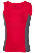 Hanes 7820 COOL-Dri Ladies Plain RED Polyester Sports Tank Top Vest