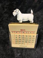 Sterling Silver & Enamel terrier dog perpetual calendar dated 1893