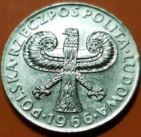 POLAND 10 ZLOTY 1966 WIEKOW WARSZAW KM.Y56 nickel coin POLSKA 27mm 10 Zlotych
