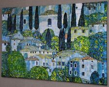 "GUSTAV KLIMT Church in Cassone CANVAS PICTURE PRINT WALL ART ""BOX FRAME"" #A291*"