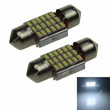 2x 31mm 18 SMD Festoon 3014 LED Car Interior Dome Map Light Bulb Globe No-polar