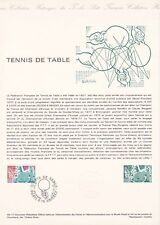 Document Philatélique Timbre 1er Jour : 17/12/ 1977 - Tennis de Table