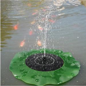 Floating Lotus Leaf Solar Powered Fountain Water Pump Pond Garden Fish Tank Yard