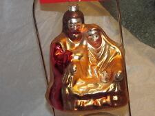 Blown Glass Mary Joseph Baby Jesus  NATIVITY Christmas Ornament - New