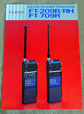 Original Yaesu FT-209R/RH & FT-709R Transceiver Color Brochure Free Shipping