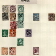 France Stamp Collection on Old Album Page #10 -  MH & Used