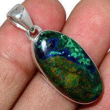Azurite In Malachite - Morenci Mines 925 Silver Pendant Jewelry AP197834
