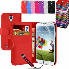 Premium Leather Wallet card Slot Magnetic Flip Case Cover For  SAMSUNG GALAXY S4