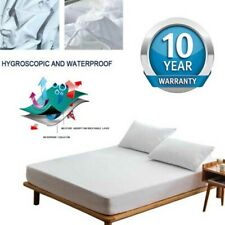 HOT! Waterproof Matress Mattress Protector Fitted Sheet Bed Cover Non-Allergenic