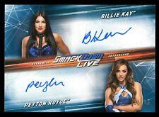 2019 Topps WWE SmackDown Live Billie Kay/Peyton Royce 2X Autograph Auto 10/25