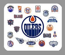 Item#847 Edmonton Oilers Logo History Mouse Pad