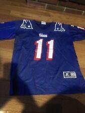 Vintage New England Patriots Drew Bledsoe Jersey Starter Boys size L 1996