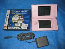 Nintendo DS Lite Coral Pink Handheld System Plus Game - Tested to work Great!