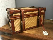 Leder Koffer 17,5 cm. Top Zustand