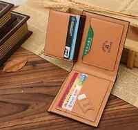 Fashion PU Leather Men's Wallet Pocket Card Clutch ID Credit Bifold Purse brown