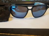 NEW Dragon Passport Black Blue Mens Square Navigator Acetate Sunglasses Msrp$100