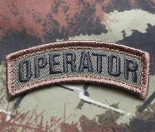 OPERATOR ARMY TAB ROCKER TACTICAL MORALE BADGE VELCRO® BRAND FASTENER PATCH