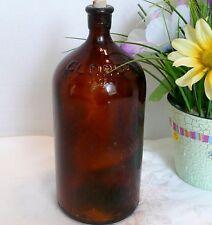 Old Amber Clorox Bottle Quart