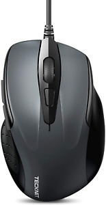 TeckNet 6-Button USB Wired Mouse with Side Buttons Optical Computer 1000/2000DPI