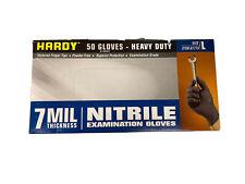 Hardy 61773 Nitrile Gloves 7 Mil Strong 50 Pcs L Heavy Duty Powder Amp Latex Free