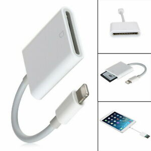 Camera SD Card Reader Adapter Cable for iPhone XR XS max X iPad Pro