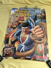 Vintage Rare World Heroes 2 Super Nintendo Game Poster Takara