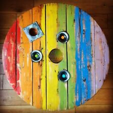 Induatrial Upcycled Pride Cable Drum Coffee Table