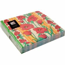 3 Ply Poppy Paper Napkins 33 x 33cm Square Party Serviettes Tableware Luxury