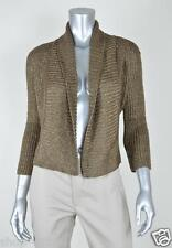 INC New Brown Metallic Pullover Cardigan Sweater Top MSRP $79 Size XS