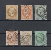 O3942/ FRANCE – 1853 / 1872 USED CLASSIC LOT