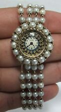 Vintage Lucien Piccard 14k Gold Pearl Lady's Watch - JX541