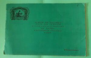 ANCIEN ALBUM DE LETTRES / SAJOU PARIS / 486 BRODERIES / 16 PLANCHES