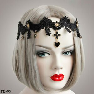 Lace Flower Rhinestone Elastic Ribbon Headband Girl Photography Hair Accessories