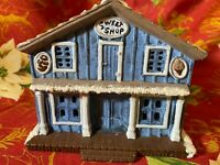 Vintage 1986 Byron Molds Winter Snowy Christmas Village Sweet Shop