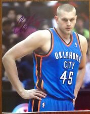 Cole Aldrich Hand Signed 8x10 Photo Oklahoma City Thunder