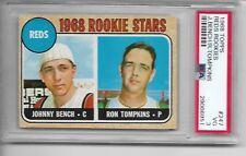 1968 Topps # 247 Johnny Bench Rookie Card MLB Greatest Catcher HOF'er Graded PSA