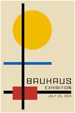 Bauhaus Poster Exhibition Poster 1923  Modern Large Wall Art Minimalist