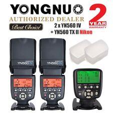 2 x Yongnuo YN560 IV Speedlite Flash + YN560-TX II Trigger Nikon + Diffuser UK