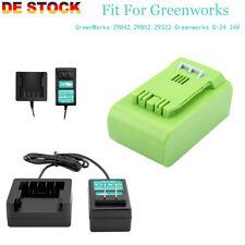 Creabest 4Ah/3Ah 24V Li-ion Akku + Ladegerät für GreenWorks G-24 24V 29842 29852