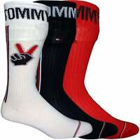 """Tommy Hilfiger 3-Pack """"Tommy Cares"""" Men's Socks Gift Box, Red/White/Navy"""