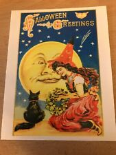 Retro Halloween Themed Postcard #18 - NEW - Pagan / Wicca / Gothic