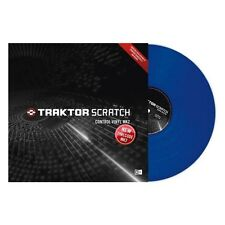 Native Instruments Traktor Scratch Control Timecode Vinyl MK2 MKII Blue SINGLE
